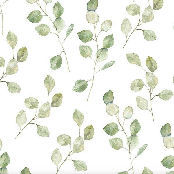Papel de Parede Folhas verdes   Adesivo Vinílico imagem 2