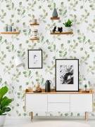 imagem do Papel de Parede Folhas verdes   Adesivo Vinílico