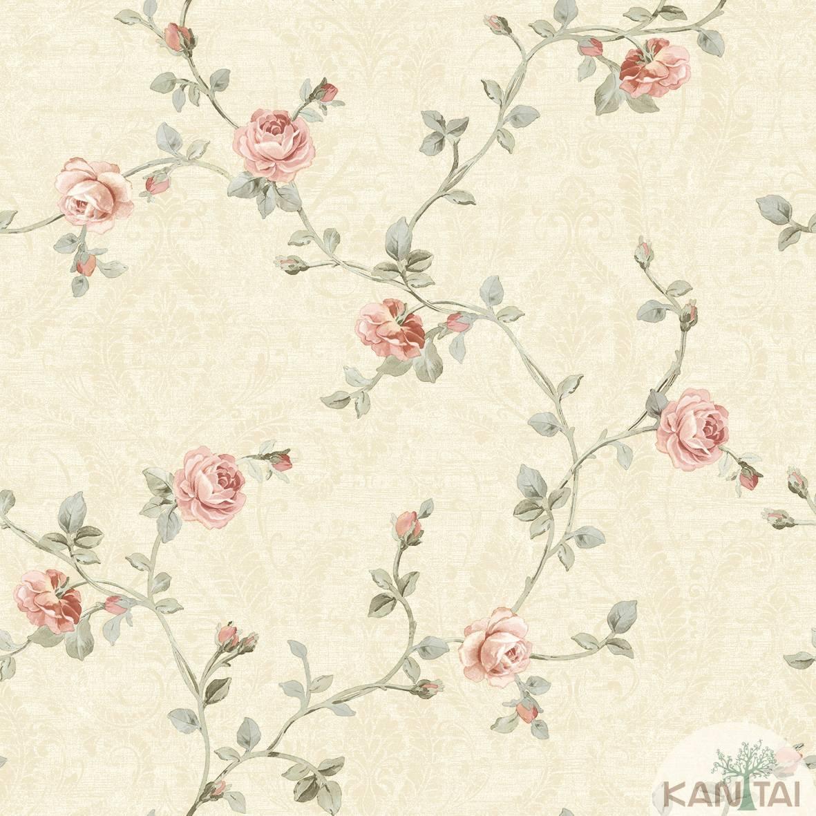 Papel de Parede Vinílico kantai Floral 2 imagem 1