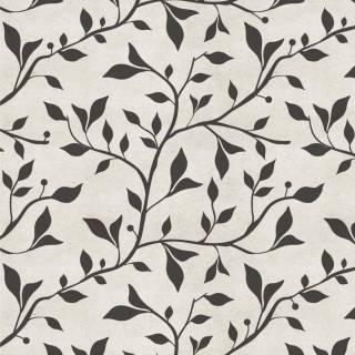Papel de Parede Floral Preto e Branco | Adesivo Vinílico