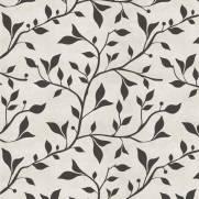 imagem do Papel de Parede Floral Preto e Branco | Adesivo Vinílico