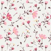 imagem do Papel de Parede Adesivo Floral /Rolo
