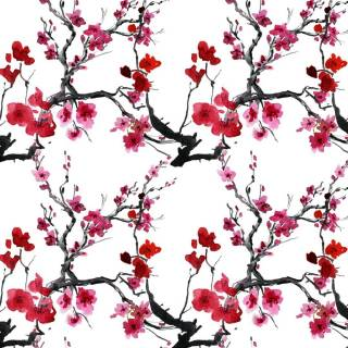 Papel de Parede Flor de  Cerejeira | Adesivo