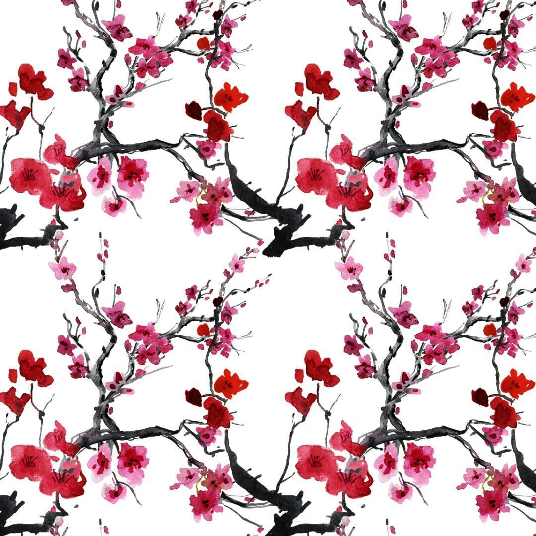 Papel de Parede Flor de  Cerejeira | Adesivo imagem 1
