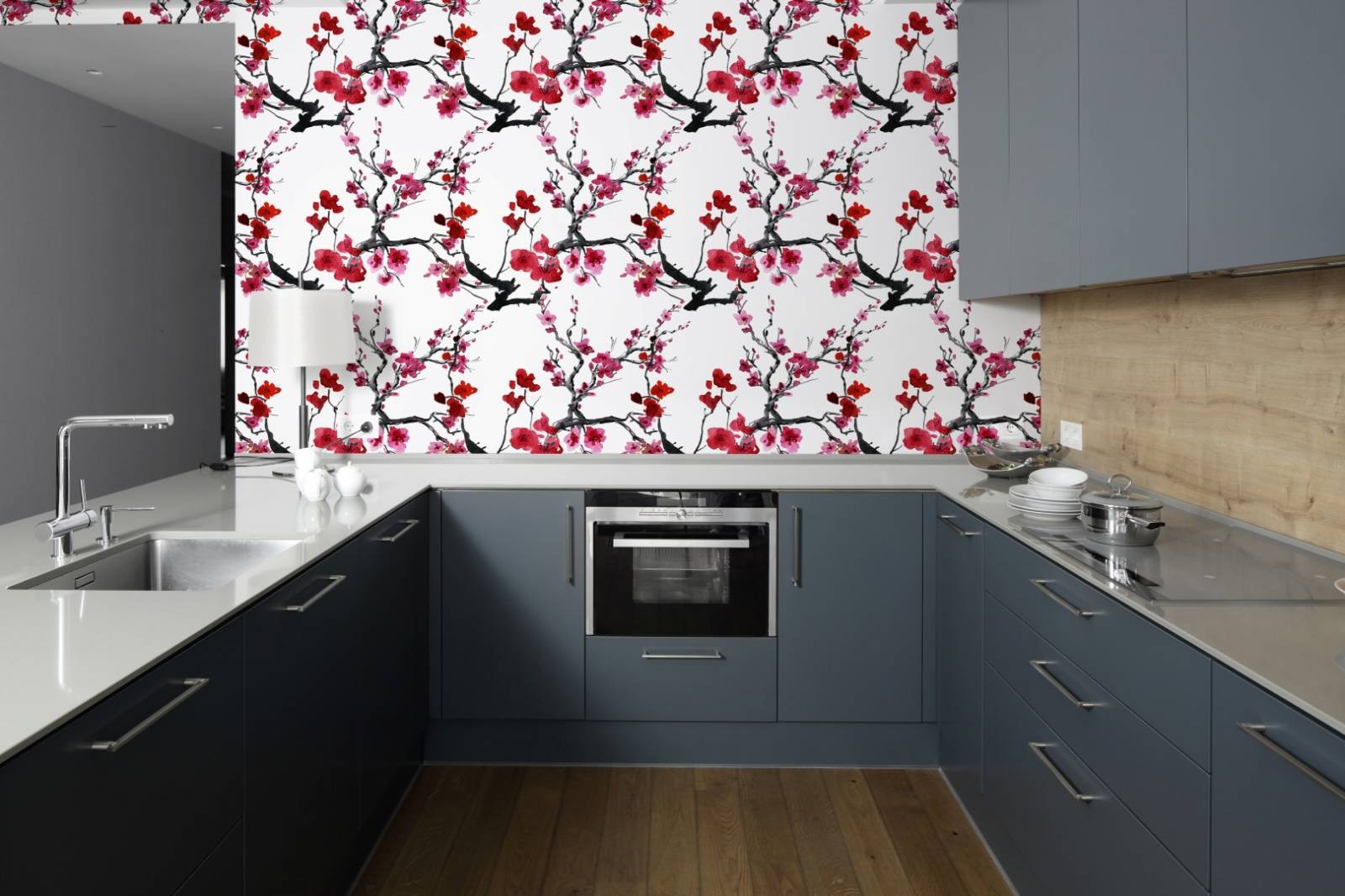 Papel de Parede Flor de  Cerejeira | Adesivo imagem 3