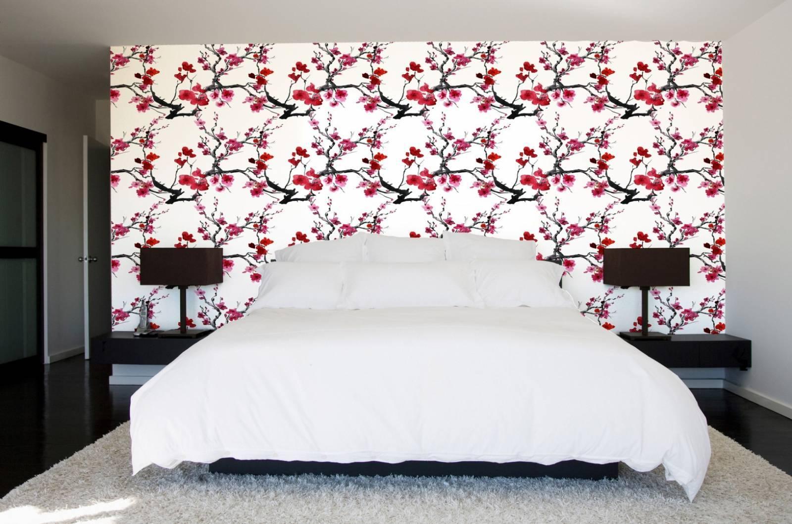 Papel de Parede Flor de  Cerejeira | Adesivo imagem 2