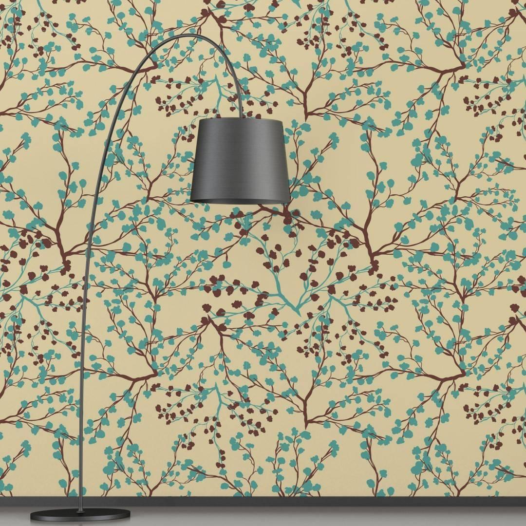 Papel de Parede Adesivo Floral /Rolo imagem 2