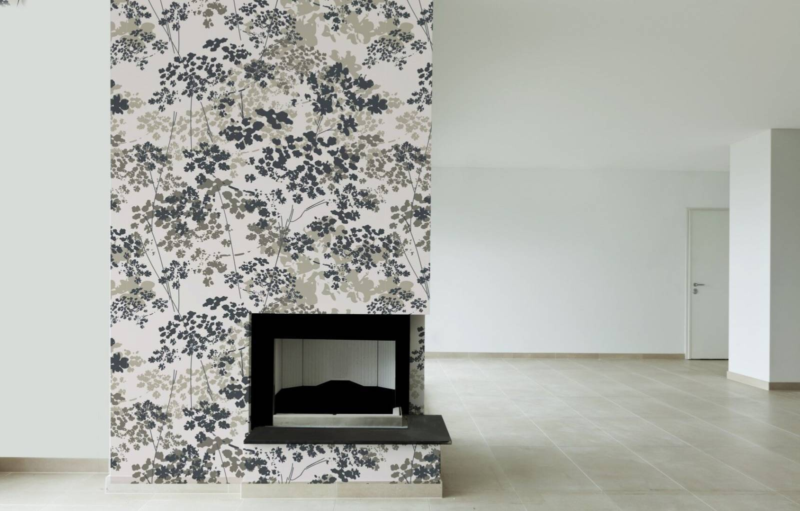 Papel de Parede Adesivo Floral/Rolo  - Redecorei
