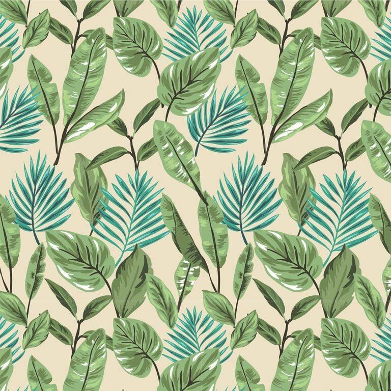 Papel de Parede Adesivo Floral/Rolo  imagem 1