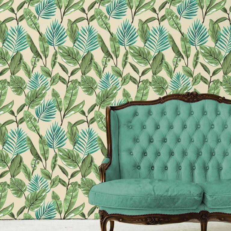 Papel de Parede Adesivo Floral/Rolo  imagem 4