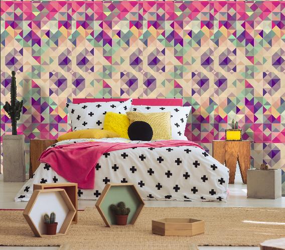 Papel de Parede Adesivo Cube Colors /Rolo imagem 2