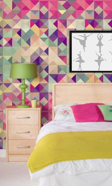 Papel de Parede Adesivo Cube Colors /Rolo imagem 3