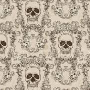 imagem do Papel de Parede Adesivo Skull Arabesco /Rolo