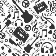 imagem do Papel de Parede Adesivo Rock & Blues /Rolo