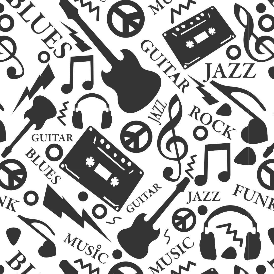 Papel de Parede Adesivo Rock & Blues /Rolo