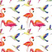 imagem do Papel de Parede Adesivo Red Birds /Rolo