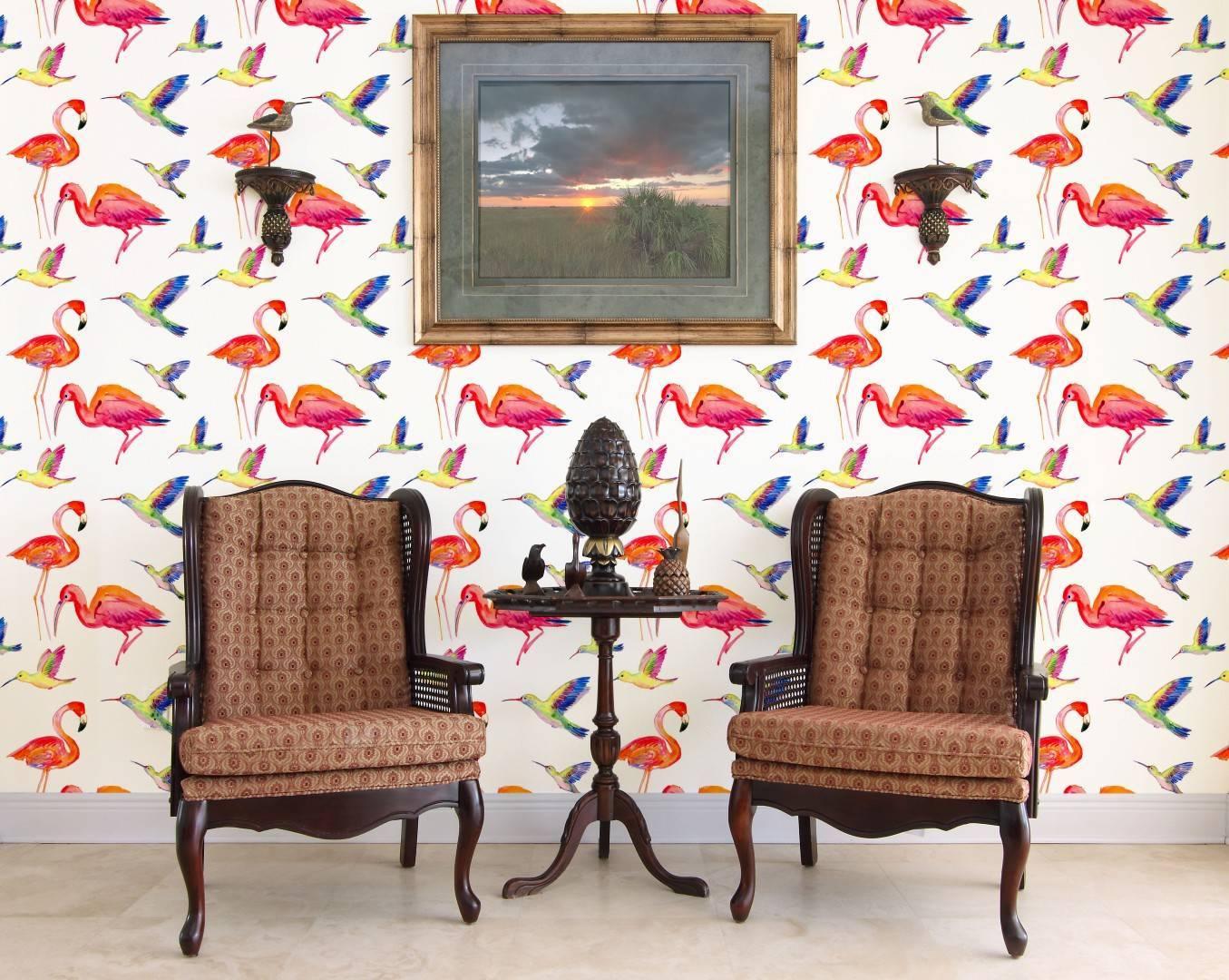Papel de Parede Adesivo Red Birds /Rolo imagem 4
