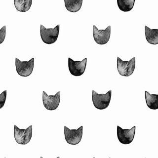 Papel de Parede Adesivo Black Cats  /Rolo