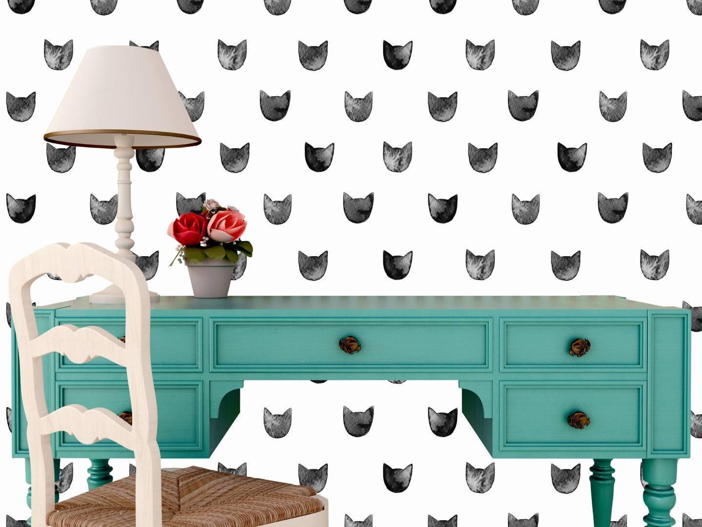 Papel de Parede Adesivo Black Cats  /Rolo imagem 2