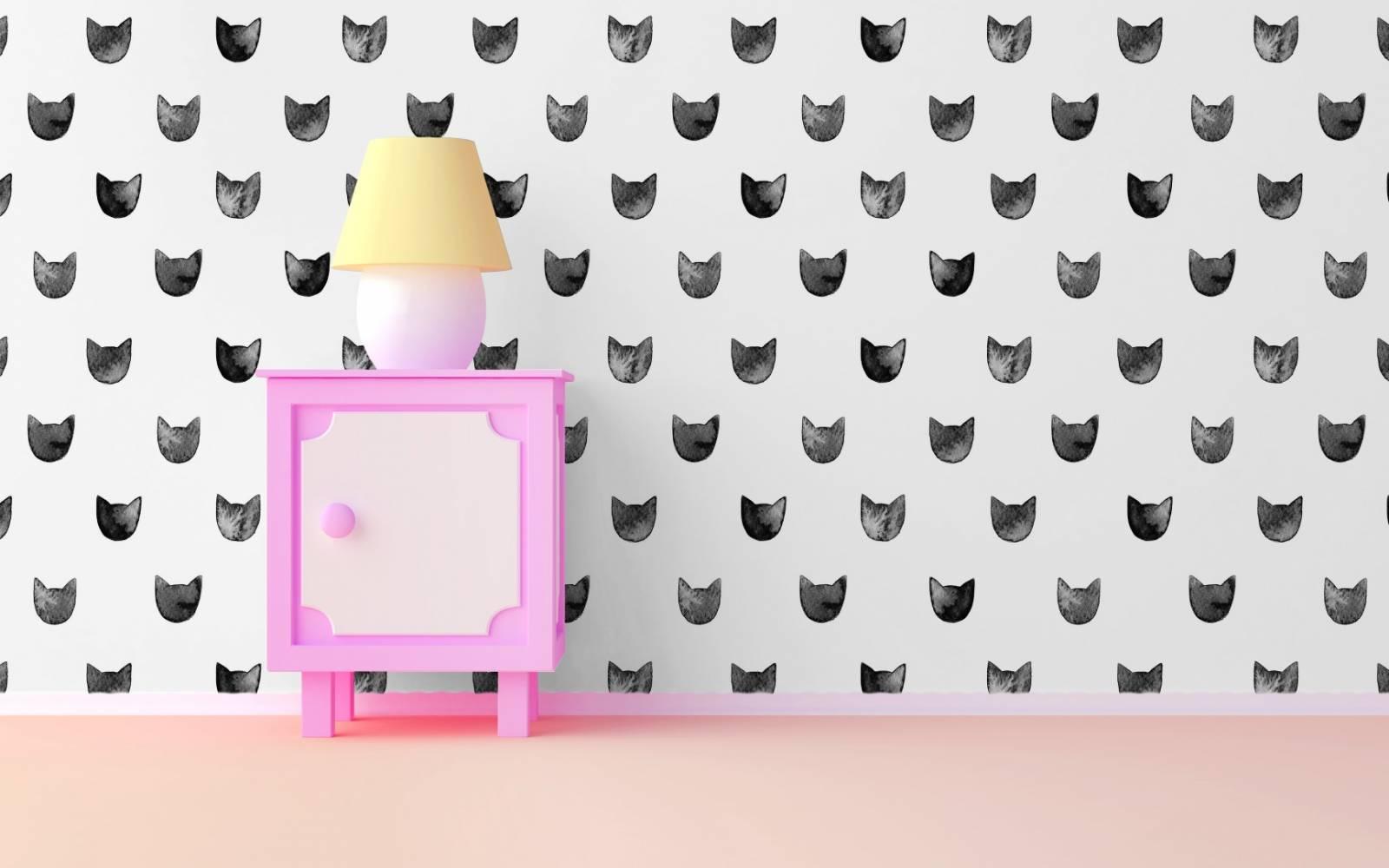 Papel de Parede Adesivo Black Cats  /Rolo imagem 3