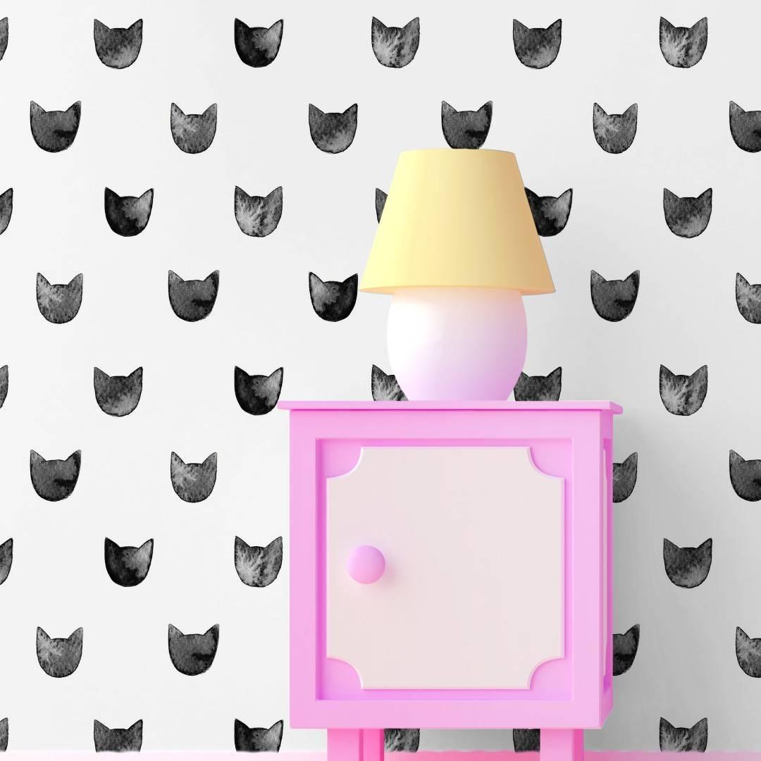 Papel de Parede Adesivo Black Cats  /Rolo imagem 4