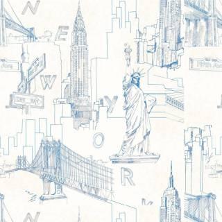 Papel de Parede Adesivo New York Features | Redecorei