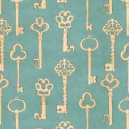 imagem do Papel de Parede Adesivo Vintage Keys/Rolo
