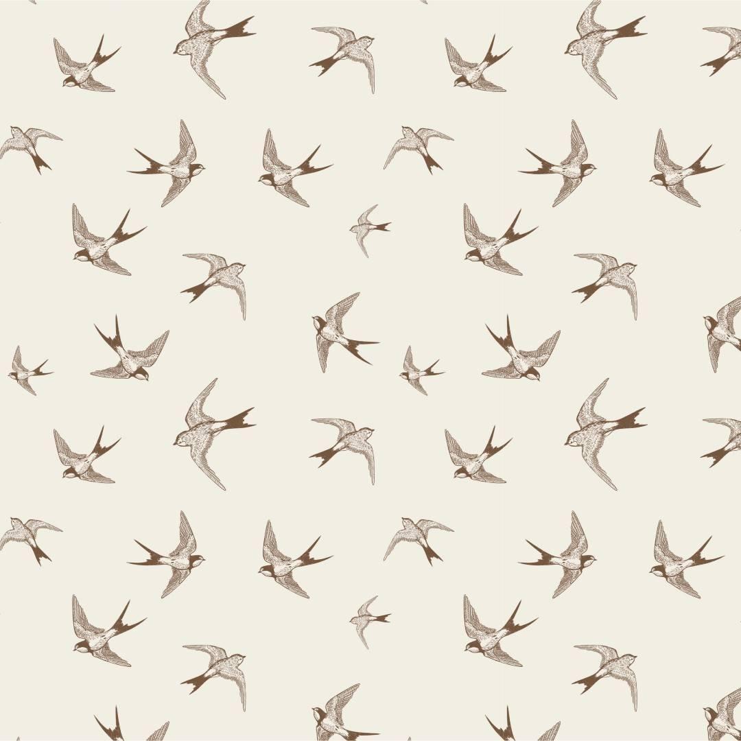 Papel de Parede Adesivo Brown Birds /Rolo imagem 1