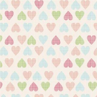 Papel de Parede Adesivo Soft Hearts /Rolo