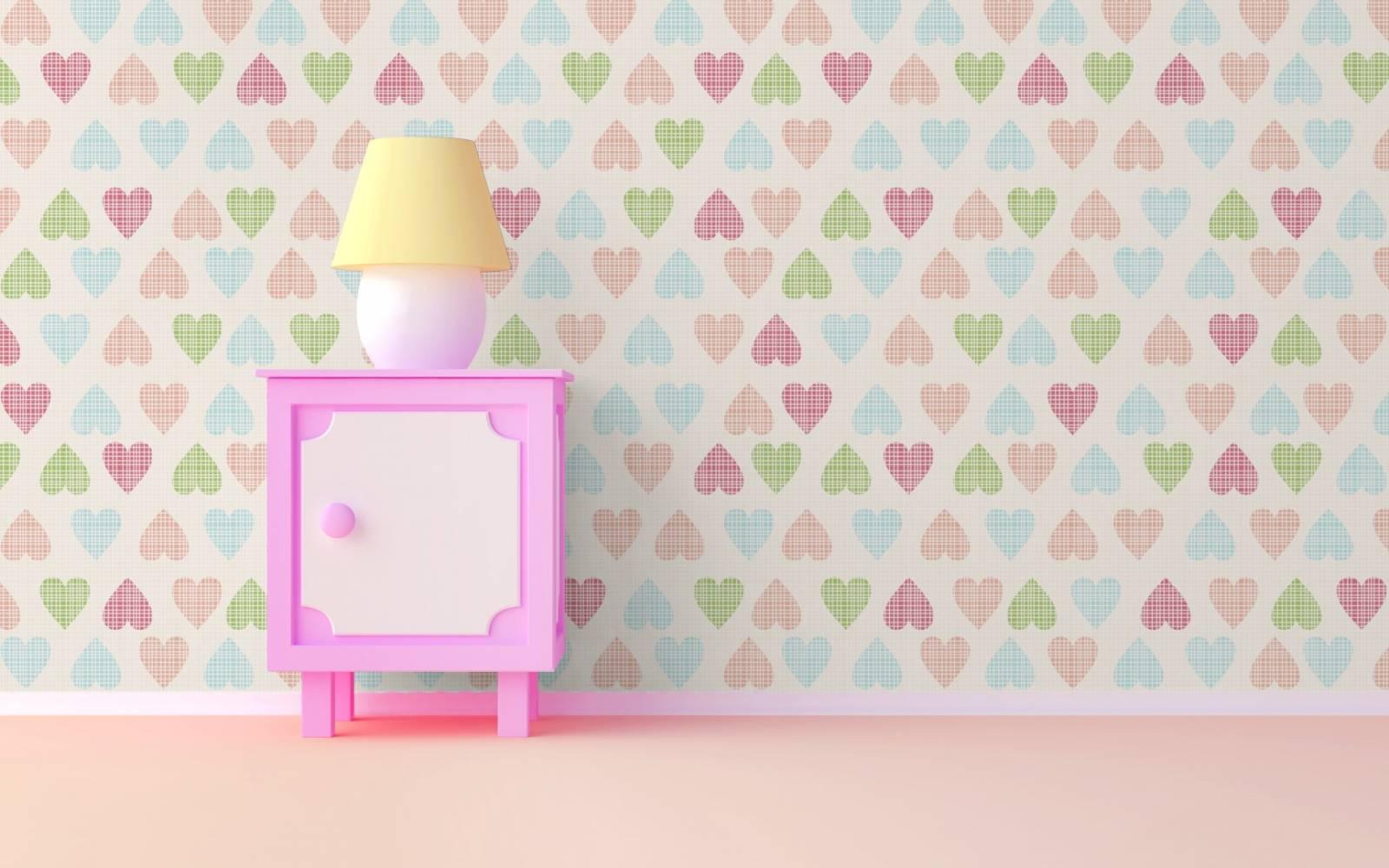 Papel de Parede Adesivo Soft Hearts /Rolo imagem 2