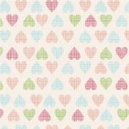 imagem do Papel de Parede Adesivo Soft Hearts /Rolo