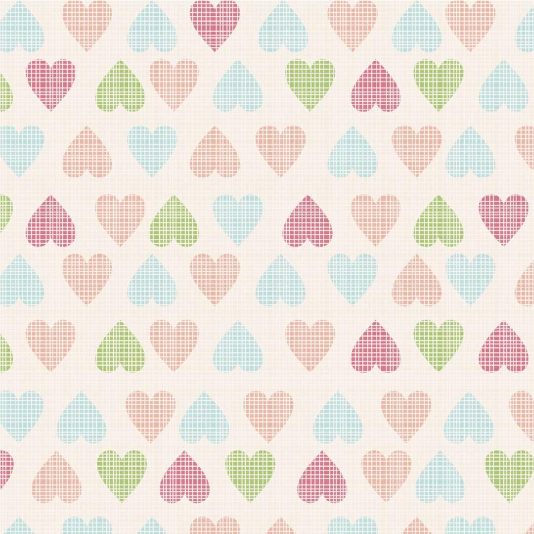 Papel de Parede Adesivo Soft Hearts /Rolo imagem 1