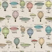 imagem do Papel de Parede Adesivo Vintage Balloon/Rolo