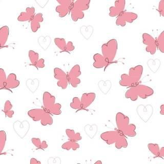 Papel de Parede Adesivo  Pink Butterflies /Rolo | Redecorei