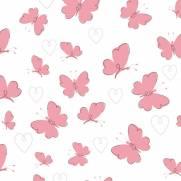 imagem do Papel de Parede Adesivo  Pink Butterflies /Rolo