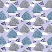 imagem do Papel de Parede Adesivo Boats Sailing /Rolo