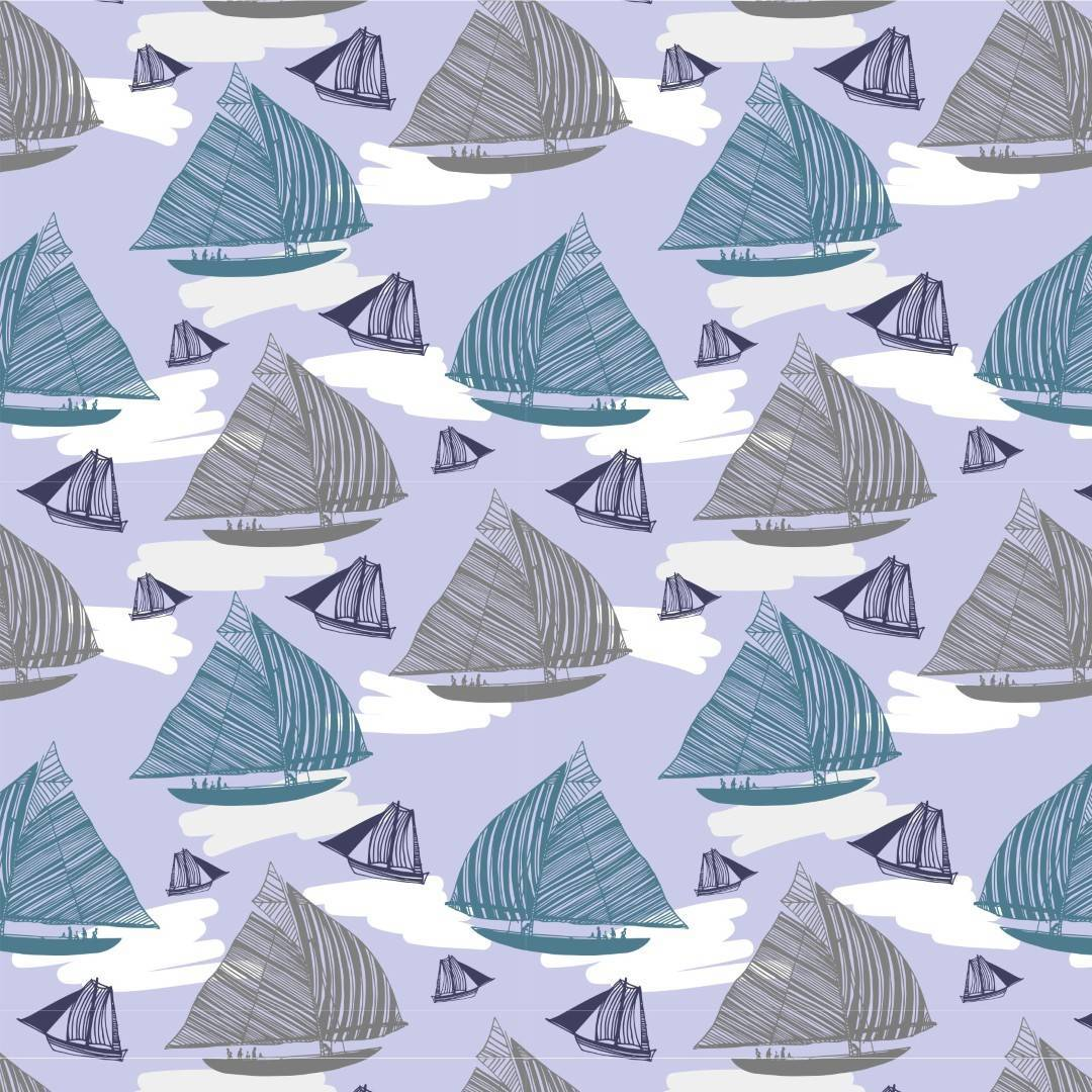 Papel de Parede Adesivo Boats Sailing /Rolo  imagem 1