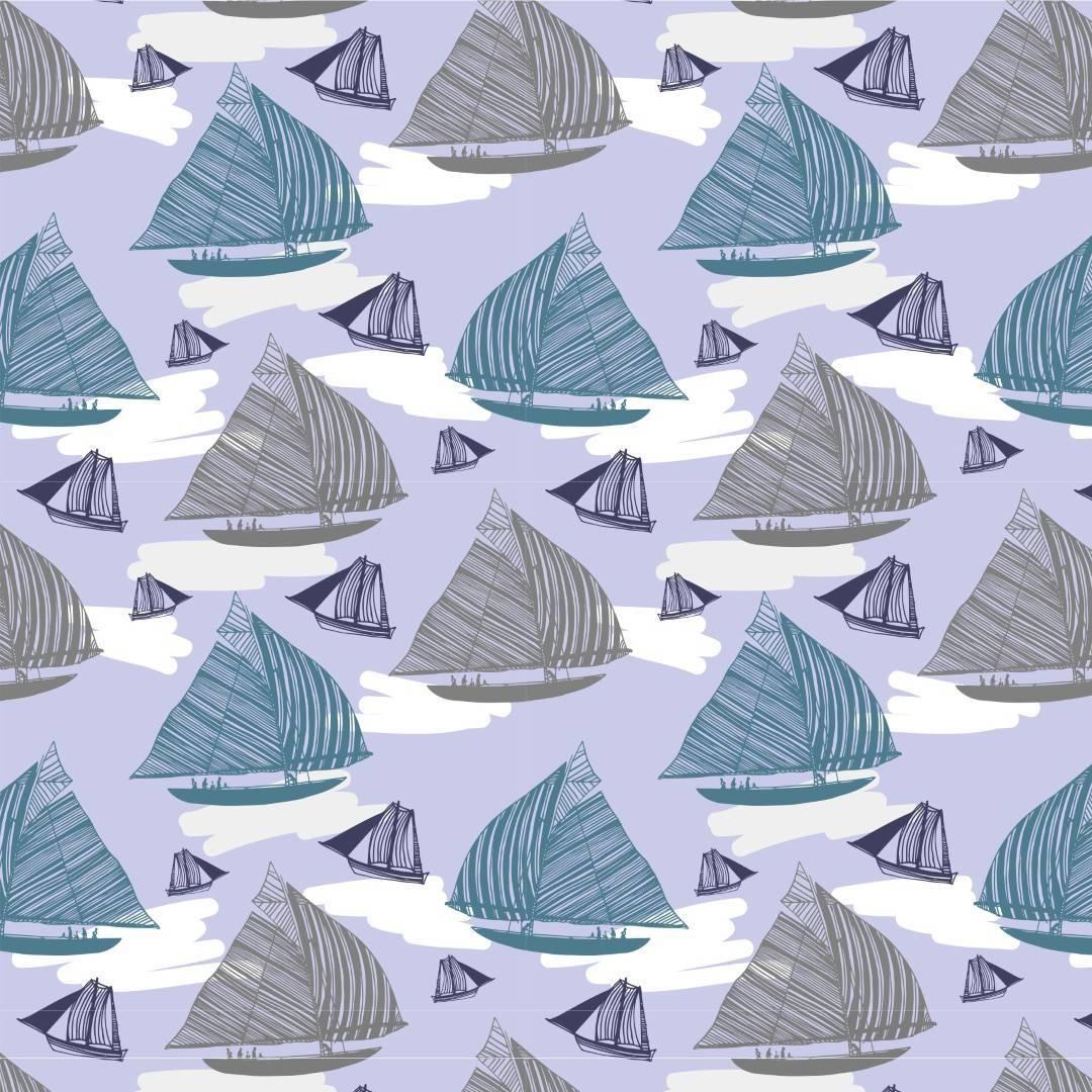 Papel de Parede Adesivo Boats Sailing /Rolo