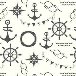 Papel de Parede Adesivo Sailor Style  /Rolo