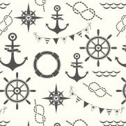 imagem do Papel de Parede Adesivo Sailor Style  /Rolo