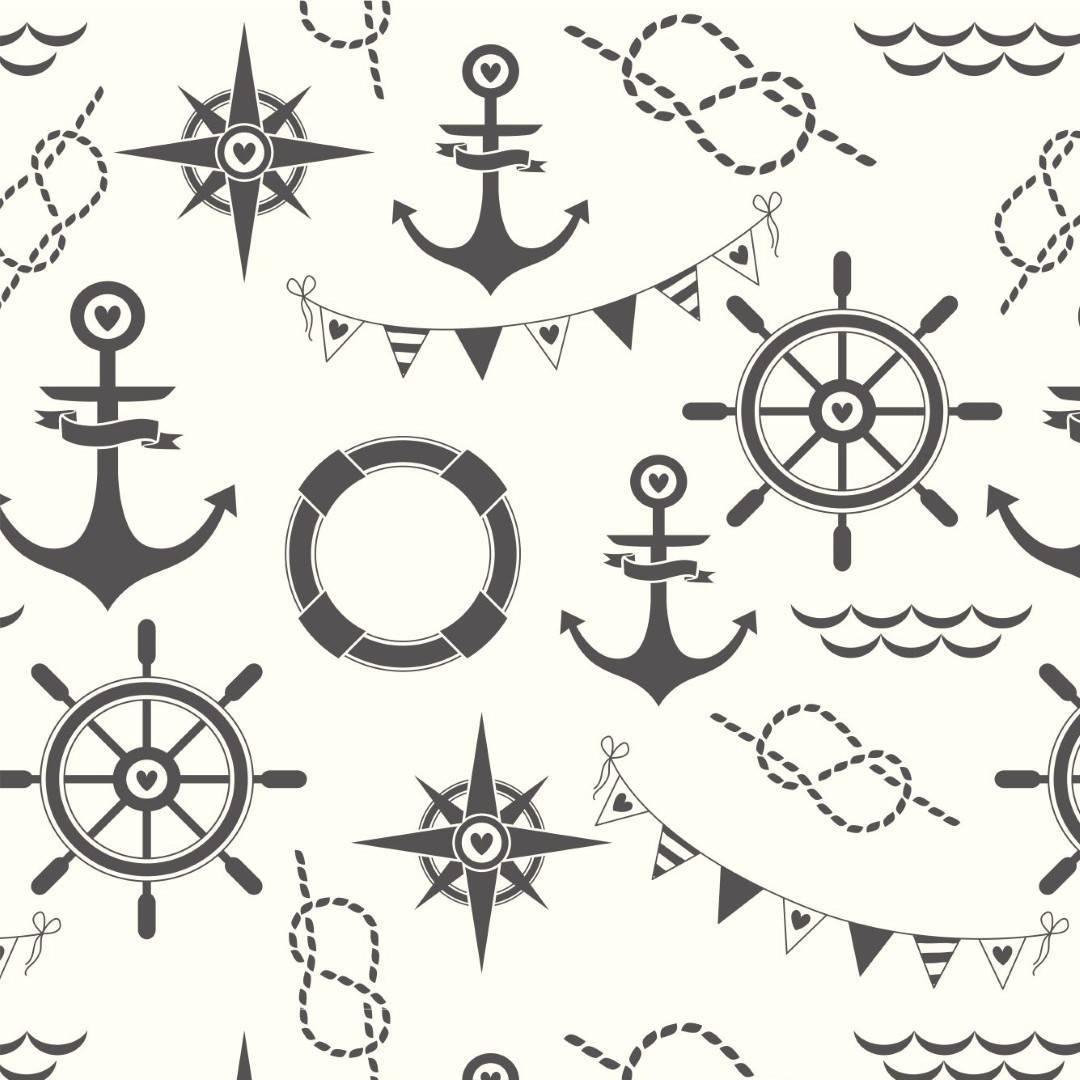 Papel de Parede Adesivo Sailor Style  /Rolo imagem 1