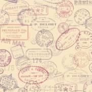 imagem do Papel de Parede Soft Stamps /Rolo