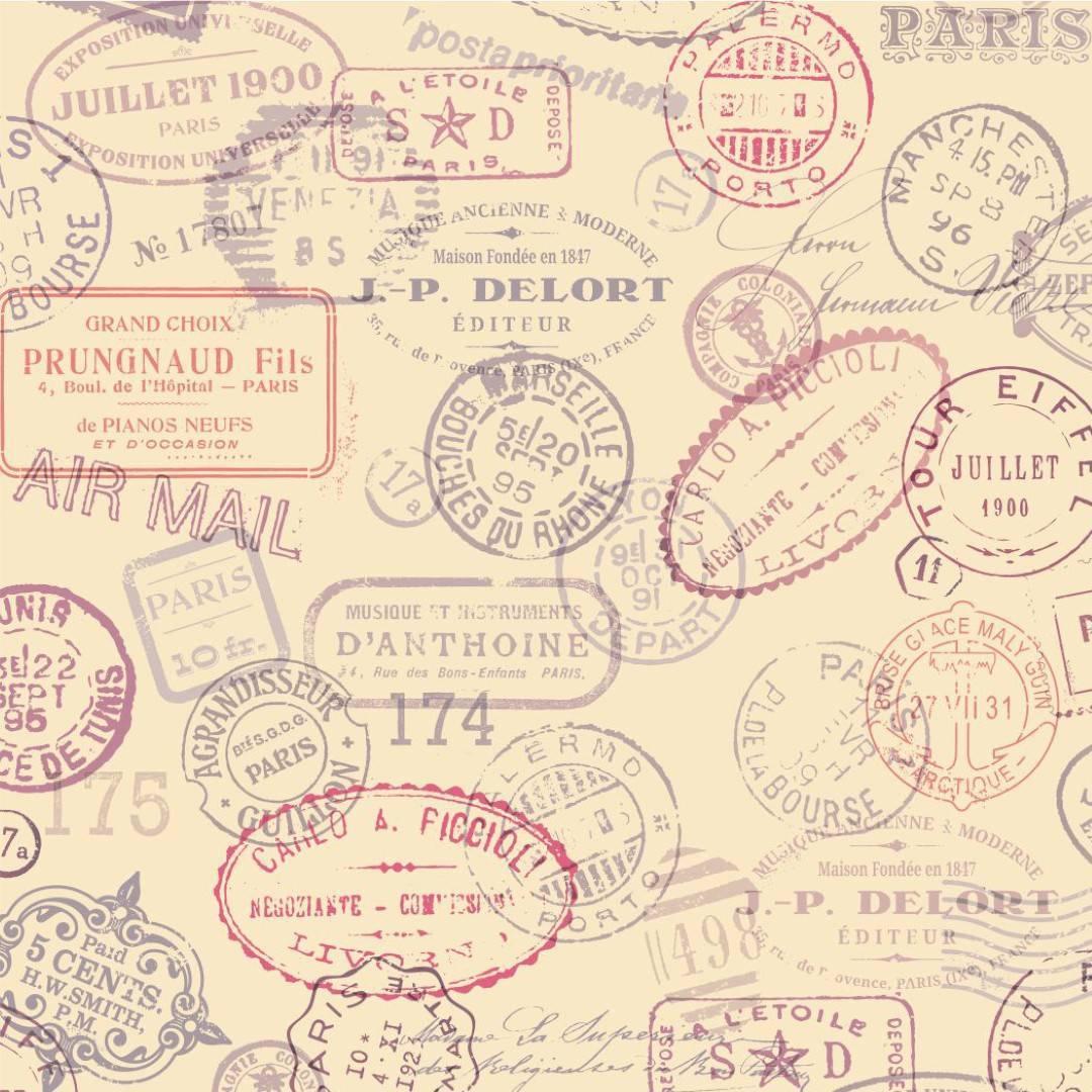 Papel de Parede Soft Stamps /Rolo   imagem 1