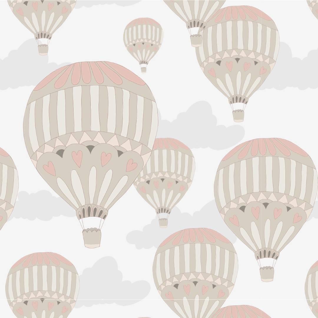 Papel de Parede Balões Retro | Adesivo Vinilico imagem 1
