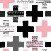 imagem do Papel de Parede Ethnic Cross/Rolo
