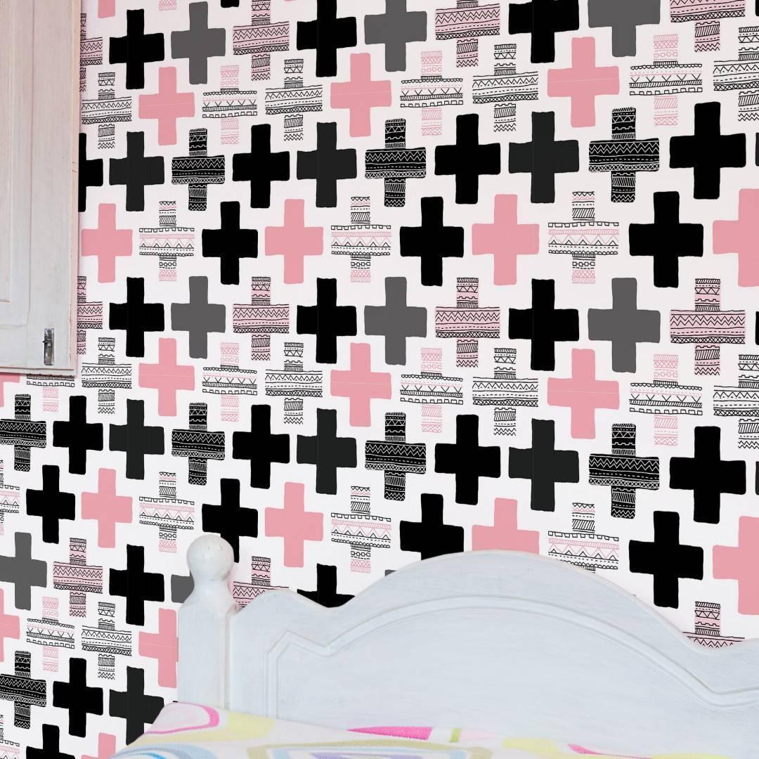 Papel de Parede Ethnic Cross/Rolo  imagem 4