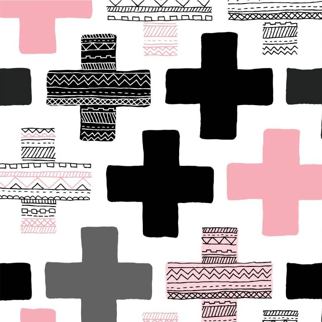 Papel de Parede Ethnic Cross/Rolo  imagem 1