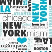imagem do Papel de Parede American Cities/Rolo