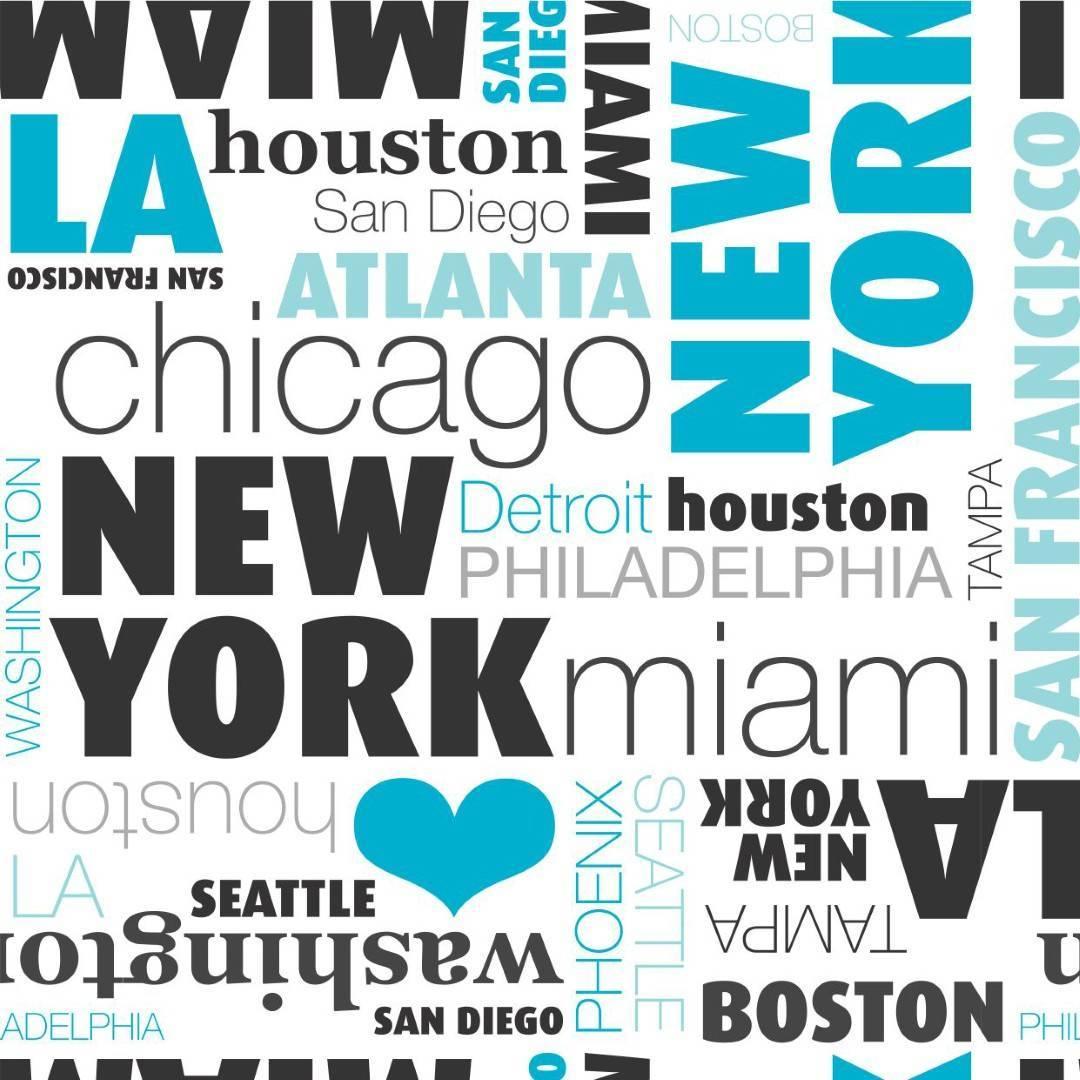 Papel de Parede American Cities/Rolo    - Redecorei