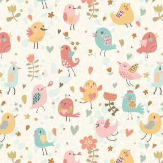 Papel de Parede Adesivo Vector Birds/Rolo